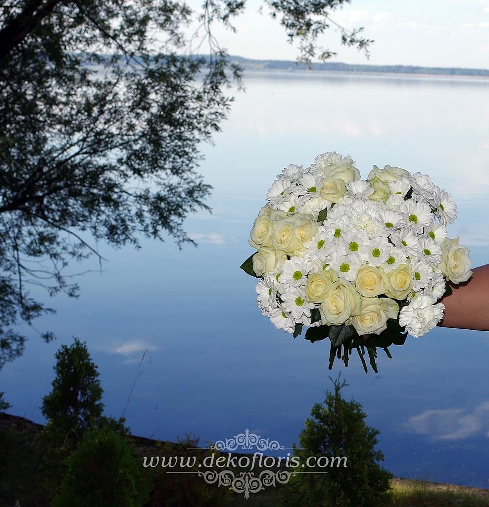 Pdziękowania dla rodziców - bukiety białych kwiatów