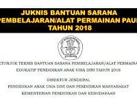 Juknis Bantuan Sarana Pembelajaran atau Alat Permainan Edukatif PAUD Tahun 2018