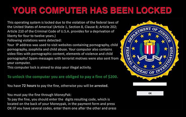 Ransomware victim screen - Analecta LLC Screen