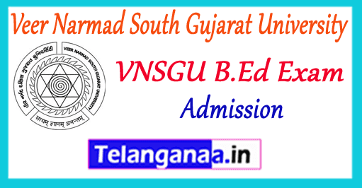 VNSGU Veer Narmad South Gujarat University Surat B.Ed Application 2019 Admission