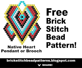 Free brick stitch native american seed bead pattern printable download pdf.