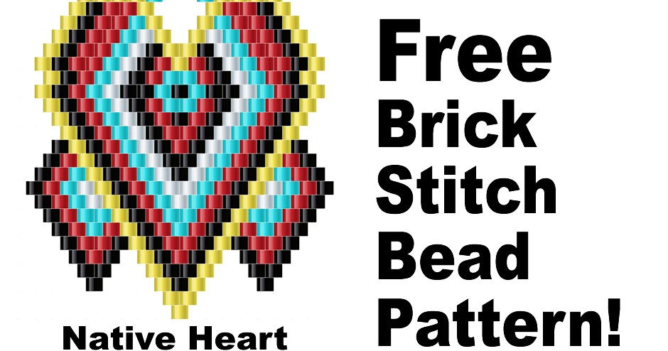 picture about Free Printable Native American Beading Patterns referred to as Brick Sch Bead Types Magazine: Indigenous Center Brick