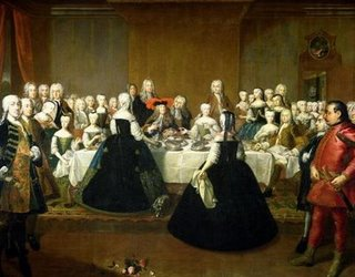Painting of the Wedding Breakfast of Maria Theresa of Austria and Francis  by Martin van Meytens