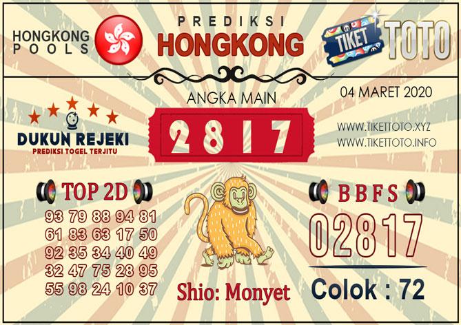 Prediksi Togel HONGKONG TIKETTOTO 04 MARET 2020