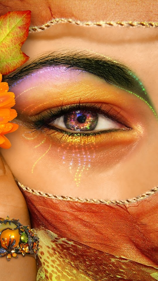 Beautiful Eye Makeup   Galaxy Note HD Wallpaper