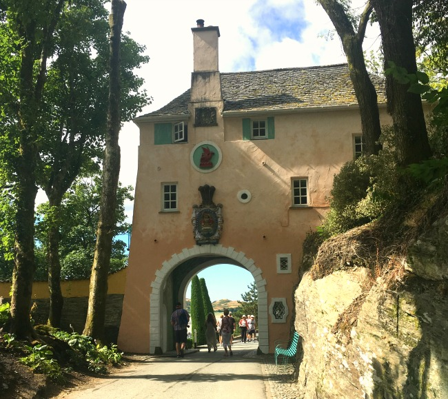 Portmeirion-Wales-entrance-terracotta-coloured-archway