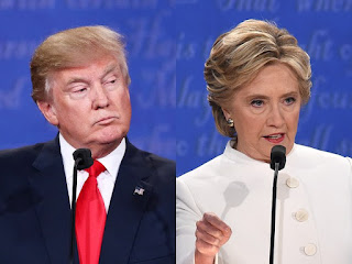 Pro-Life Donald Trump and Pro-Abort Hillary Clinton during the 3rd presidential debate.