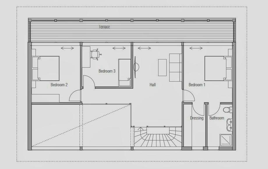 Beach House Floor Plans: CH98 Raised Beach House Plan