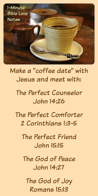 Meeting Jesus for Coffee, 5 Roles Jesus Plays in Our LIves, Jesus Counselor, Jesus Comforter, Jesus Friend