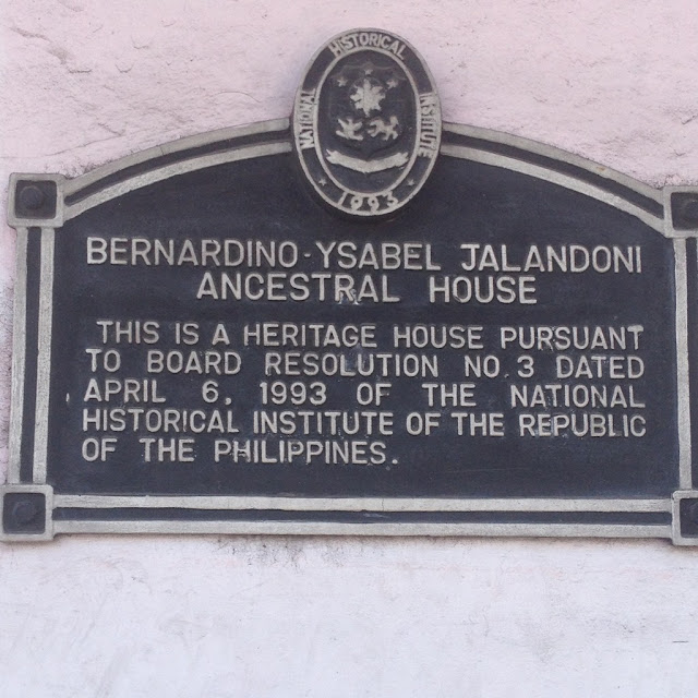 National Historical Institute plaque at the Don Bernardino Jalandoni Museum