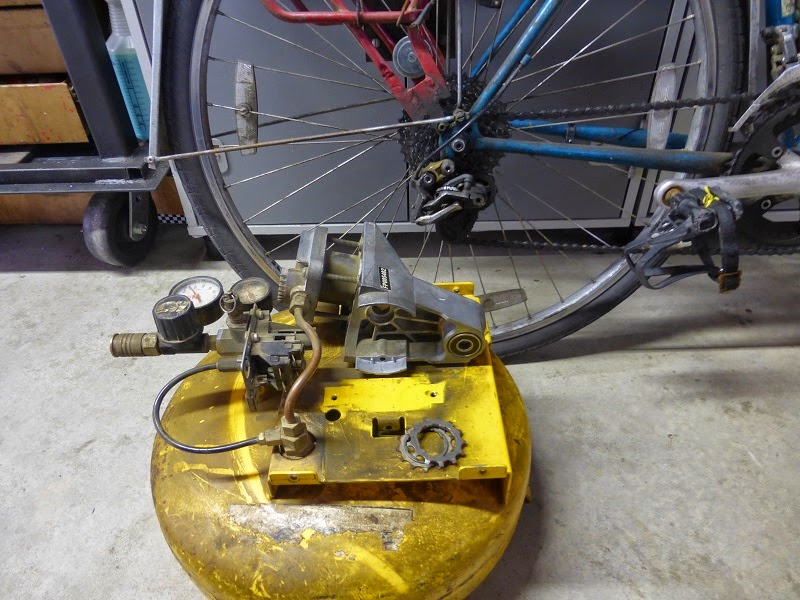 sizing the compressor with the bike