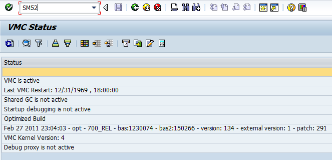 How to check VMC status in SAP CRM system ? - SAP BASIS