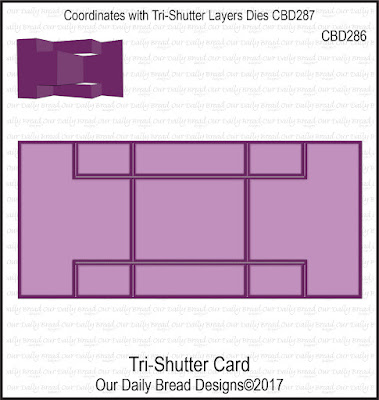 Custom Die: Tri-Shutter Card