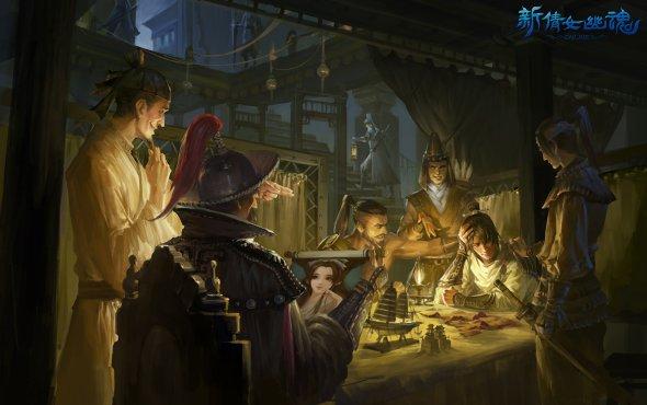 You Zheng artstation arte ilustrações fantasia oriental games
