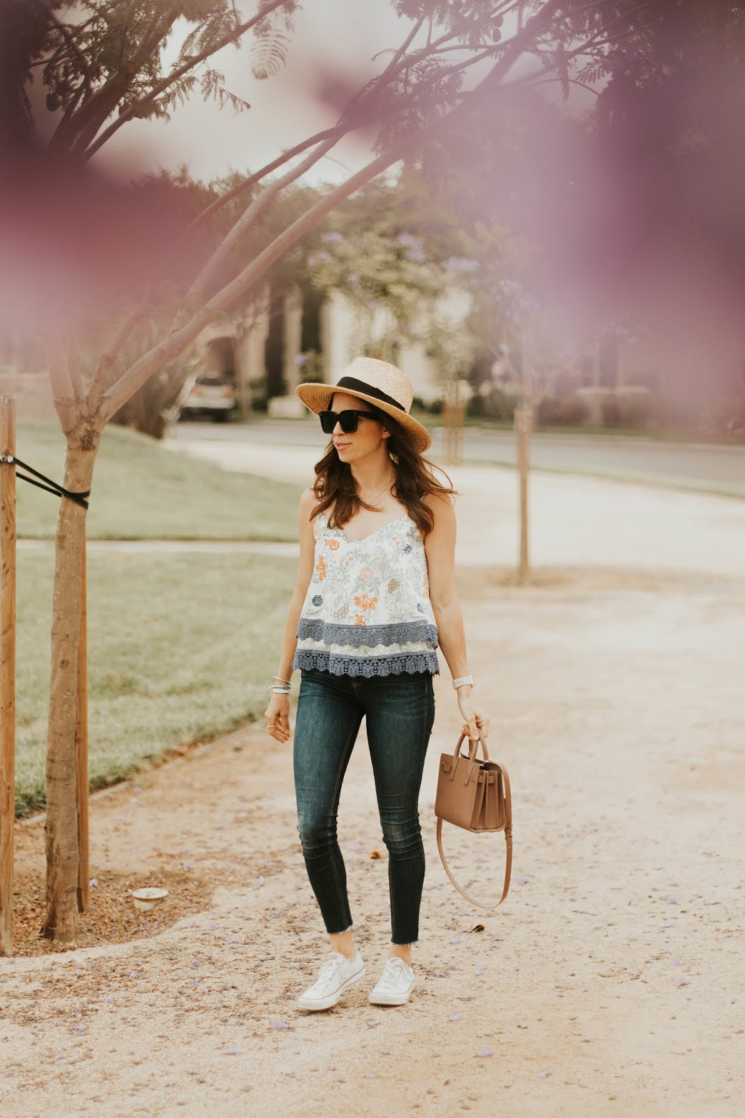 tiered cami top outfit