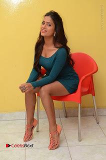 Telugu Actress Prasanthi Stills in Green Short Dress at Swachh Hyderabad Cricket Press Meet  0088.JPG
