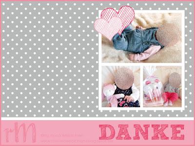 Stampin' Up! rosa Mädchen Kulmbach: Dankeskarte zur Geburt