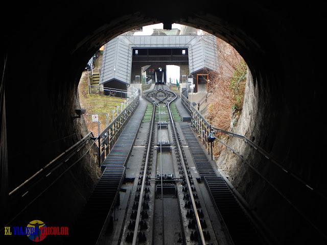 Subiendo en funicular a Hohensalzburg