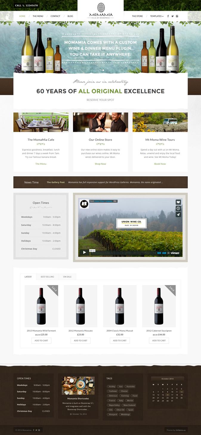 best Restaurant & Winery Theme