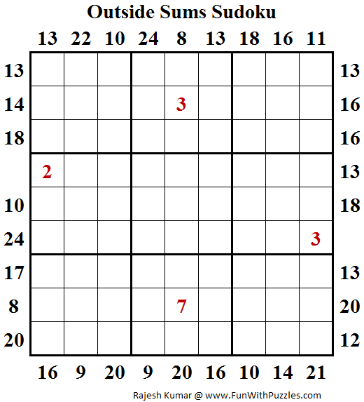 Outside Sums Sudoku (Fun With Sudoku #117)
