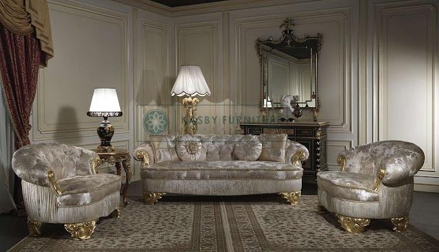 Set Sofa Ruang Tamu Klasik Modern Jepara