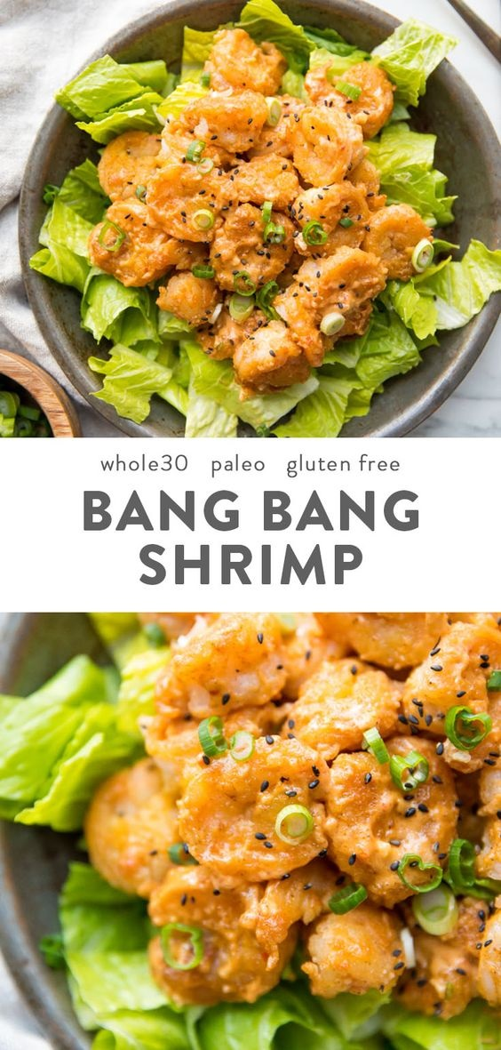 Whole30 Bang Bang Shrimp