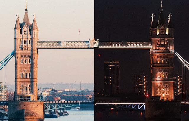 Die Schönheit Londons im direkten Tag / Nacht Vergleich | Videokunst von Franck Matellini