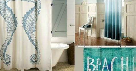 Fashionable Coastal Beach Shower Curtains To Bring Ocean