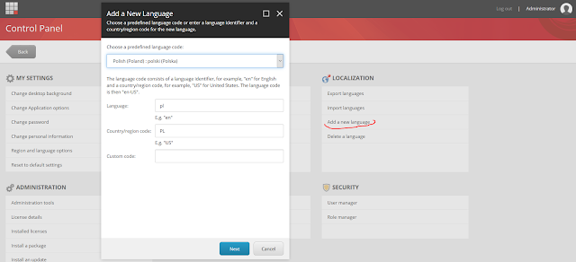 Sitecore - Control Panel - Add new Language