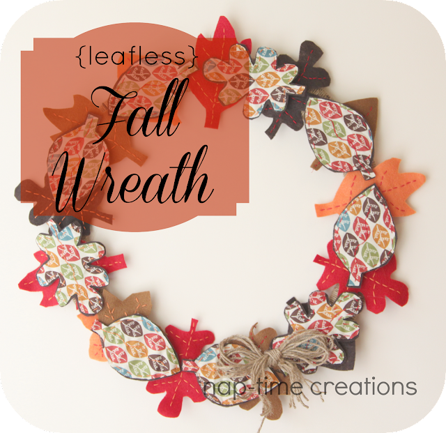 fall wreath wtih felt from LIfe Sew Savory