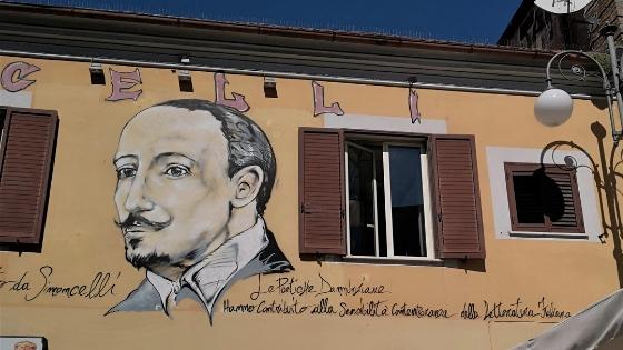 Gabriele D'Annunzio murales a Pescara