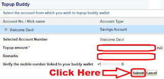 how to add money in state bank buddy wallet through sbi internet banking