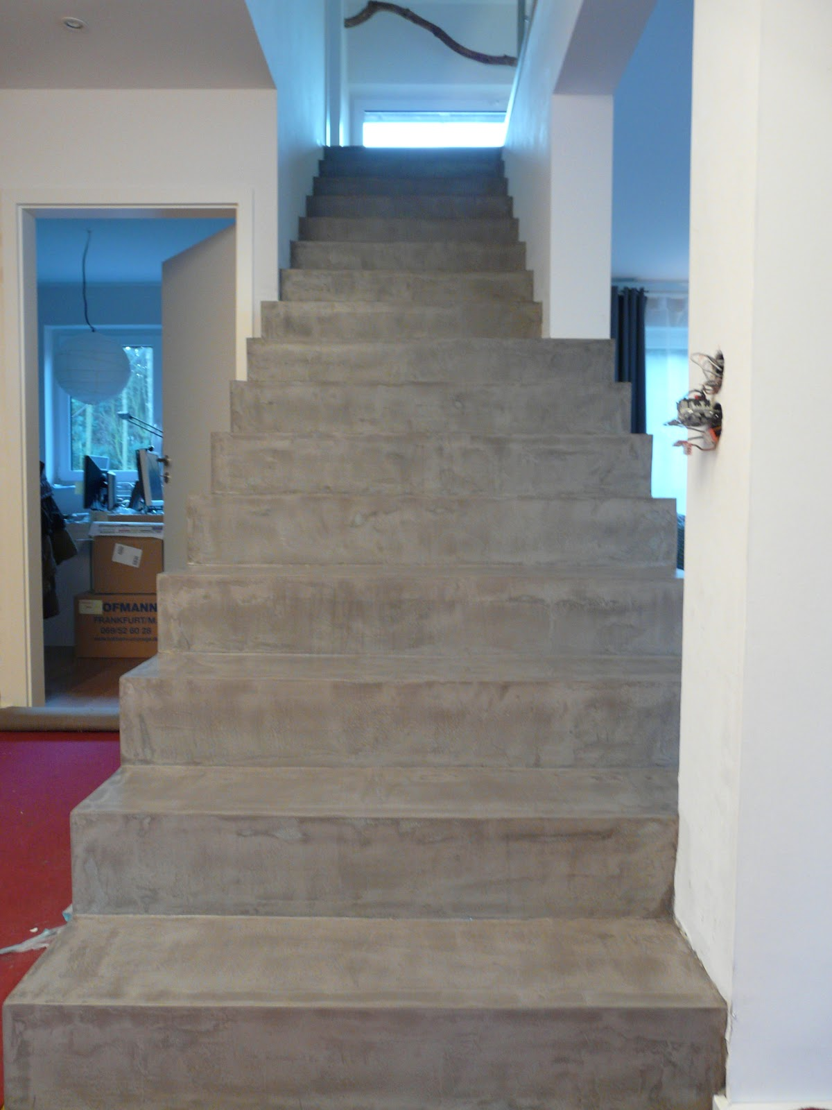 wand wohndesign beton cire beton floor treppe in betonoptik. Black Bedroom Furniture Sets. Home Design Ideas