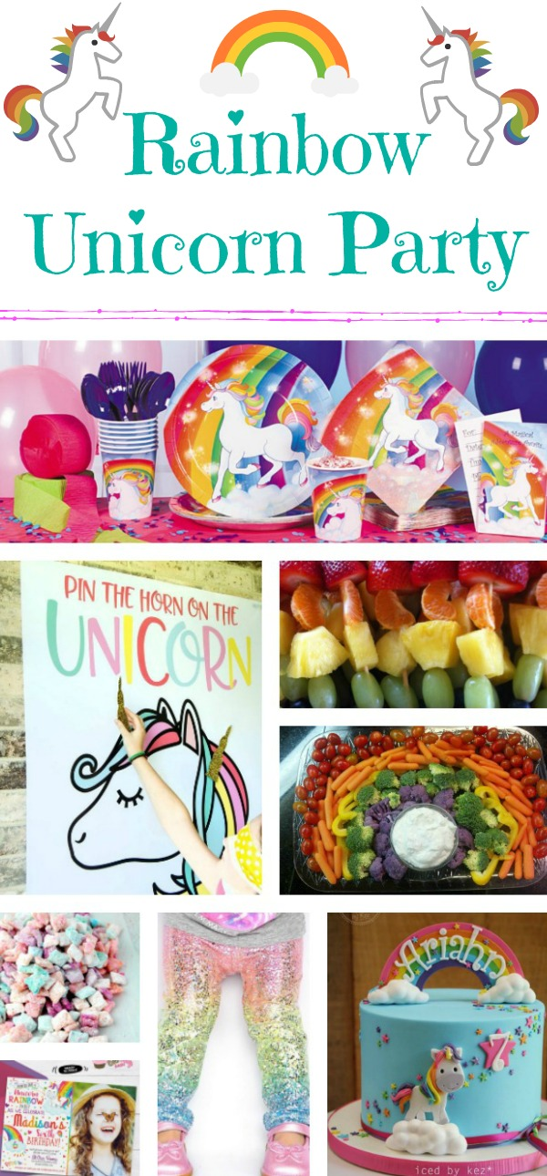 unicorn birthday party, unicorn party, ideas for a unicorn party, unicorn cake, rainbow unicorn birthday party, rainbow party, Unicorn leggings, unicorn cake, unicorn birthday party invite, Pin the horn on the unicorn, unicorn party food, unicorn party decorations, unicorn decorations, rainbow decorations