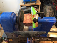 Installing the block into the lathe