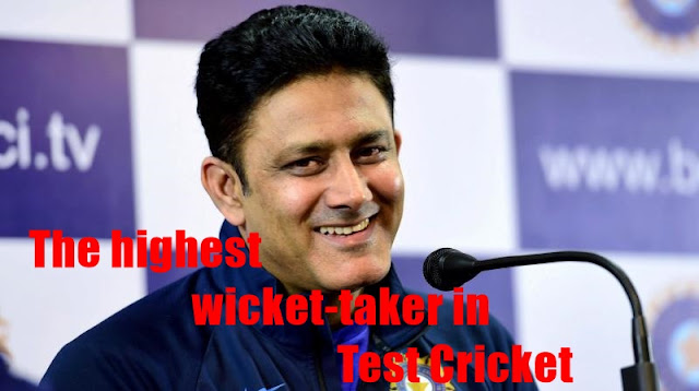The highest wicket-taker in Test Cricket