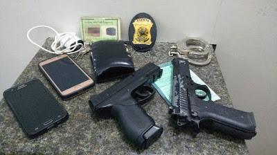 Polícia Militar retira de circulação dois suspeitos com distintivo falso, em Alagoinhas