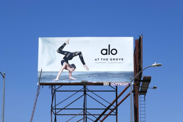 Alo yogawear billboard