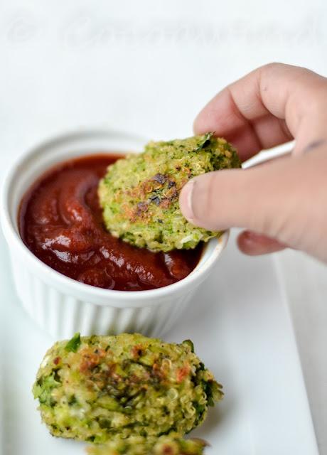 Baked Broccoli Quinoa Tater Tots