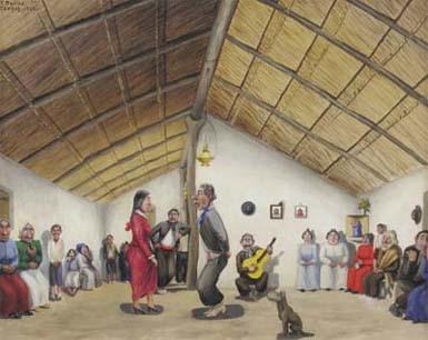 Resultado de imagen para peña folklorica caricaturas molina campos