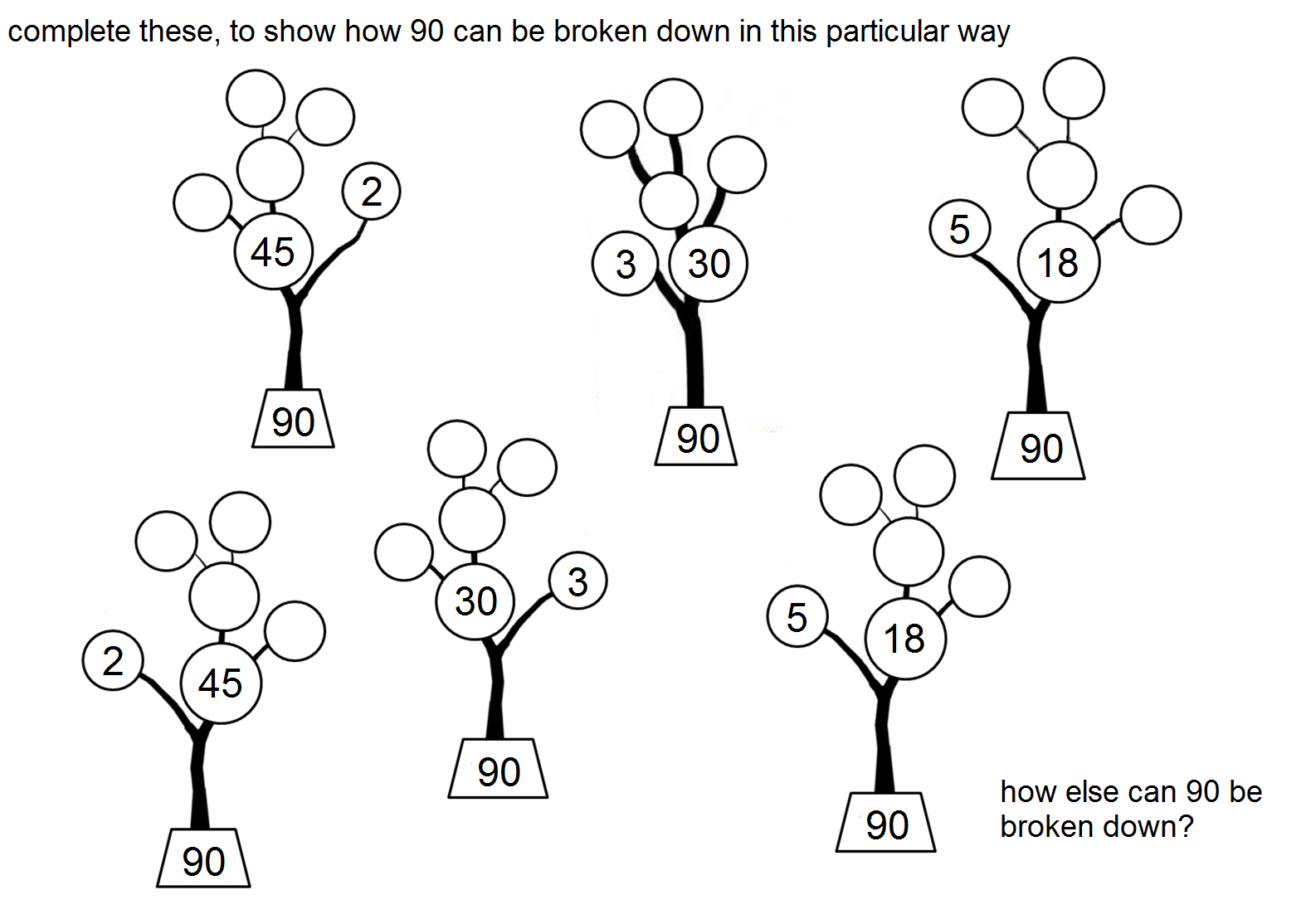 tree diagram worksheets grade 4 hotpoint aquarius wiring resourceaholic resources