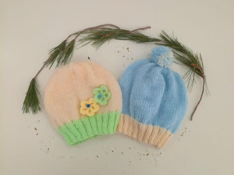 Cappellino ai ferri per neonato