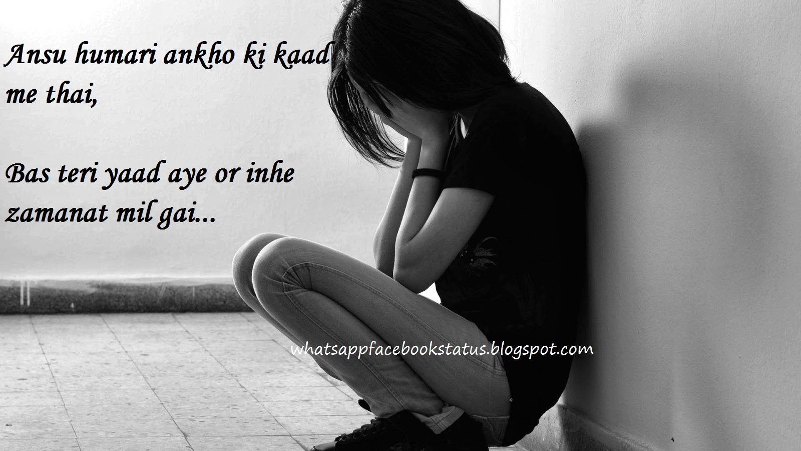 Sad Crying in love yaad whatsapp sad love status