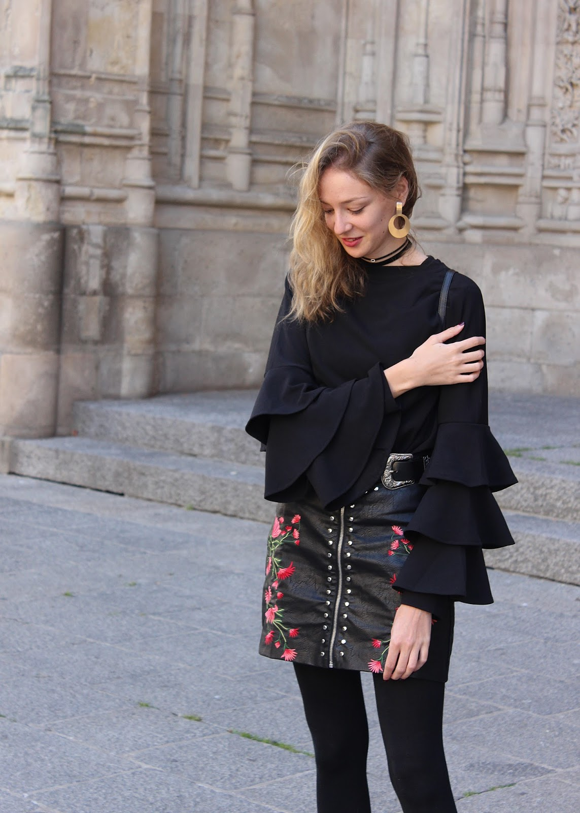 studded leather skirt zaful