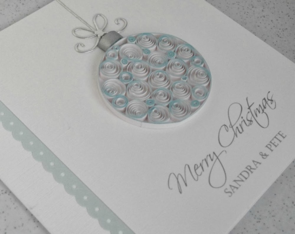 paper daisy cards another quilled christmas card design