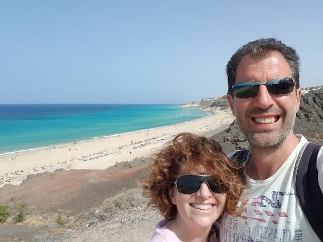 Noi alla spiaggia di Esquinzo-Fuerteventura