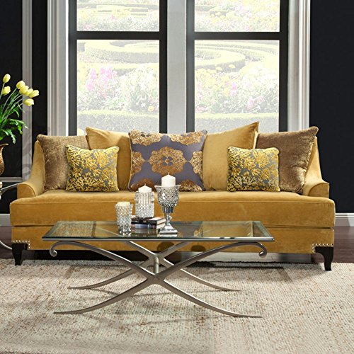 Golden Velvet Sofa Has The Ability To Mix With Every Color Scheme And It Always Makes Your Room Look More Beautiful Very Catchy For Eyes