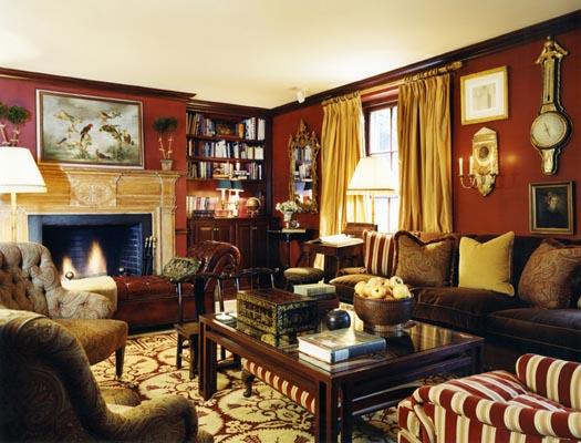 living room in english luster interiors a return to country 13519