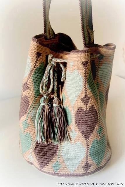 Patrón #758: Mochila a Crochet