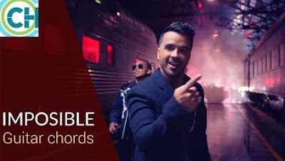 IMPOSIBLE Guitar chords with Lyrics ACCURATE | LUIS FONSI | OZUNA